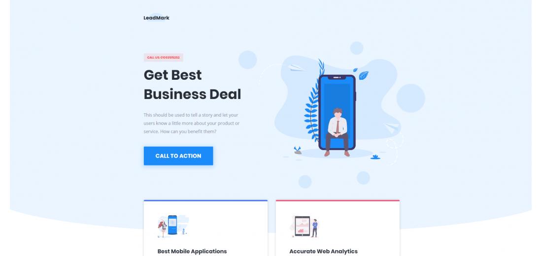 Бизнес шаблон целевой страницы HTML